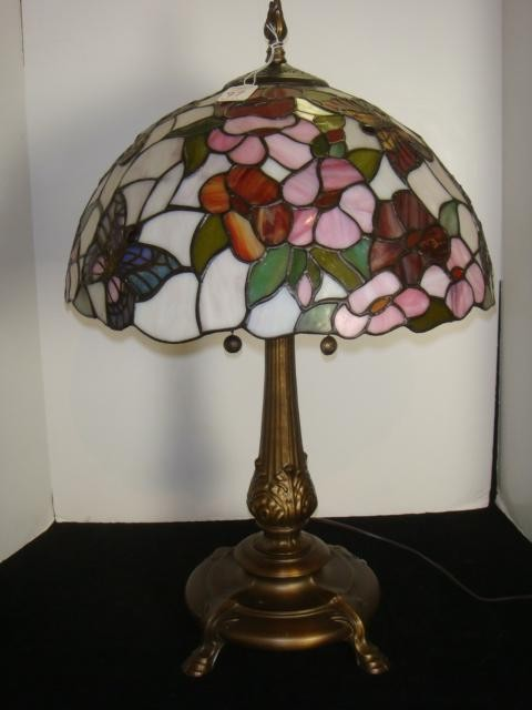 Use stained glass butterfly lamp to lit your home  Warisan Lighting