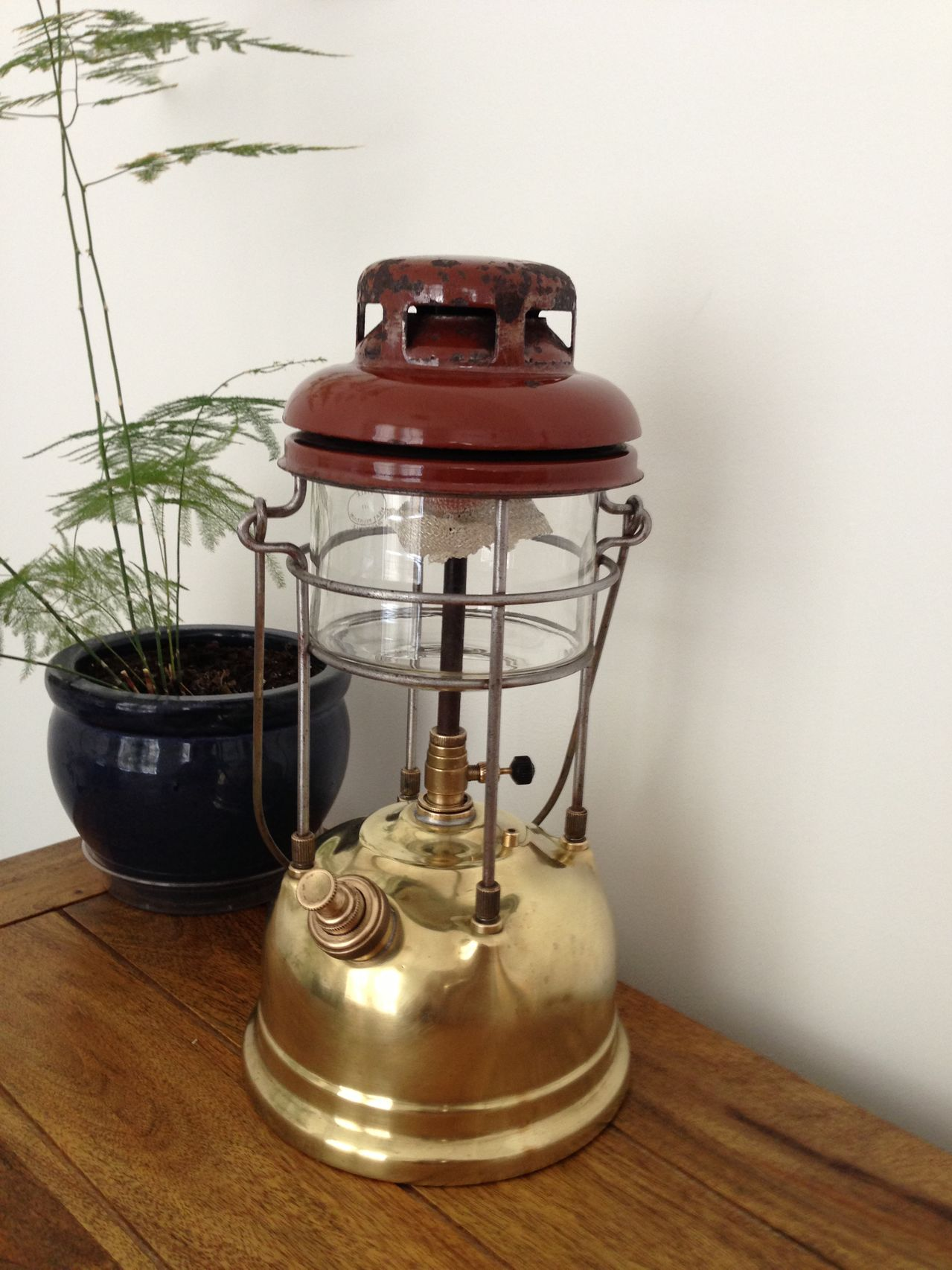 Tilley lamp adds a little bit of shade to your room
