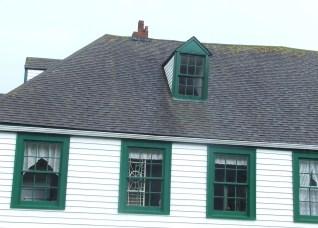 Damaged chimney at Ottawa House, click to enlarge