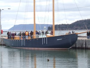 The Katie Belle at Parrsboro's wharf