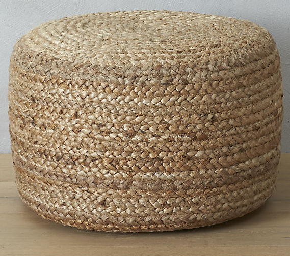 CB2 Braided Hemp Pouf