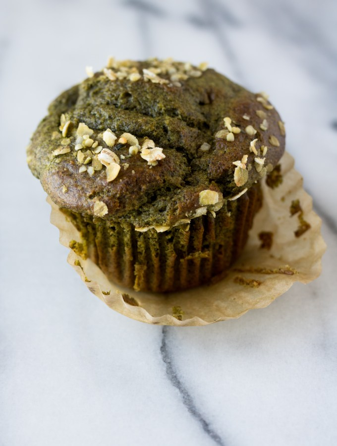 Spinach, Banana + Buckwheat Muffins