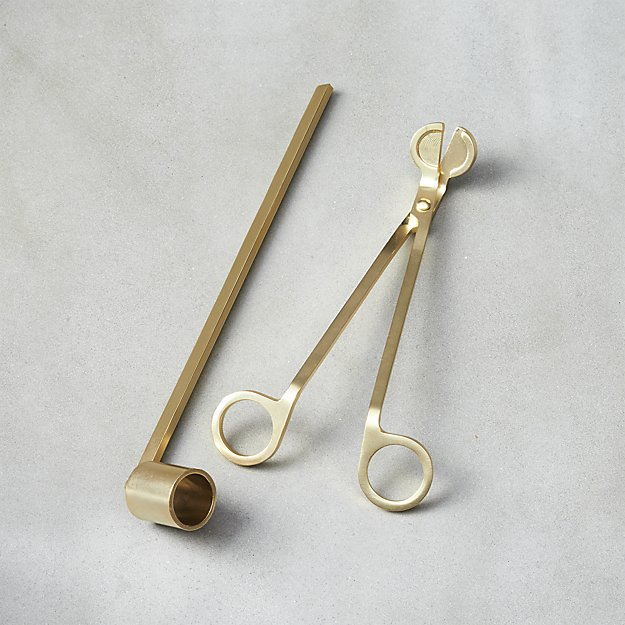 CB2 Candle Snuffer + Wick Trimmer Set