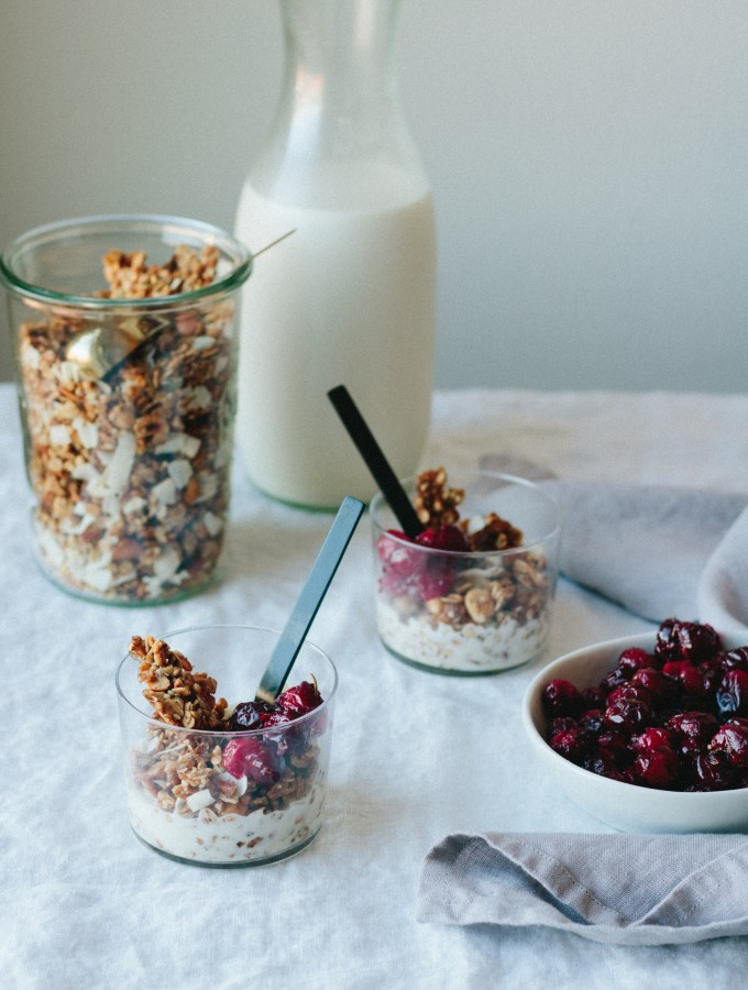 The Creamiest Nut Milk + The Crunchiest Buckwheat Granola, with Roasted Cranberries
