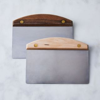 Wood + Brass Dough Scraper