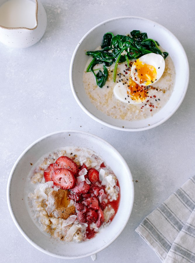 The Creamiest Instant Pot Oatmeal — Sweet + Savory