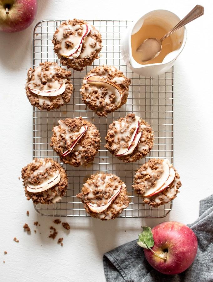 Apple Rye Crumb Muffins — warmandrosy.com