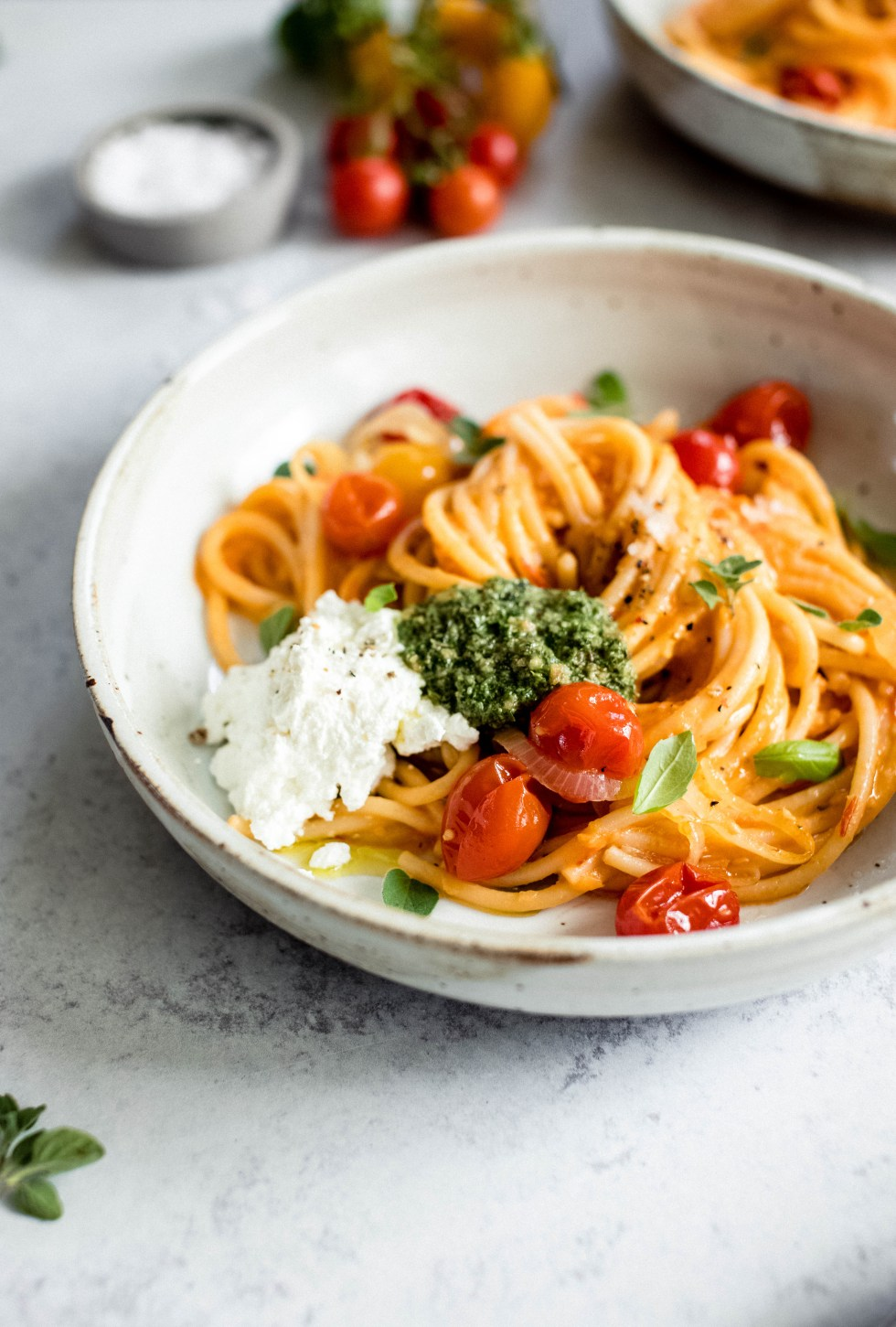 Roasted Cherry Tomato Pasta — warmandrosy.com
