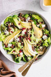 Pear, Blue Cheese and Pomegranate Salad — warmandrosy.com
