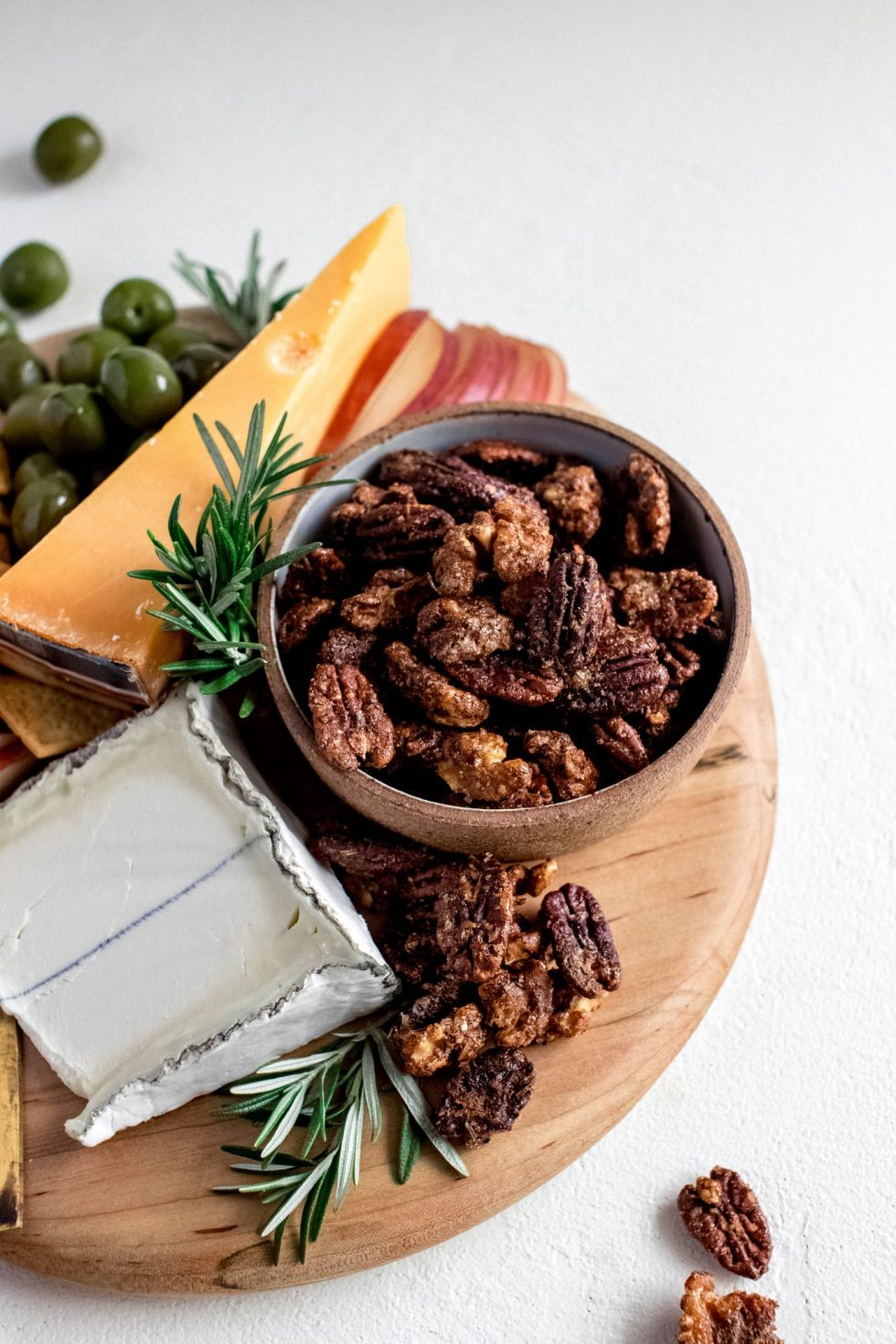 Sweet + Salt Spiced Nuts with Rosemary