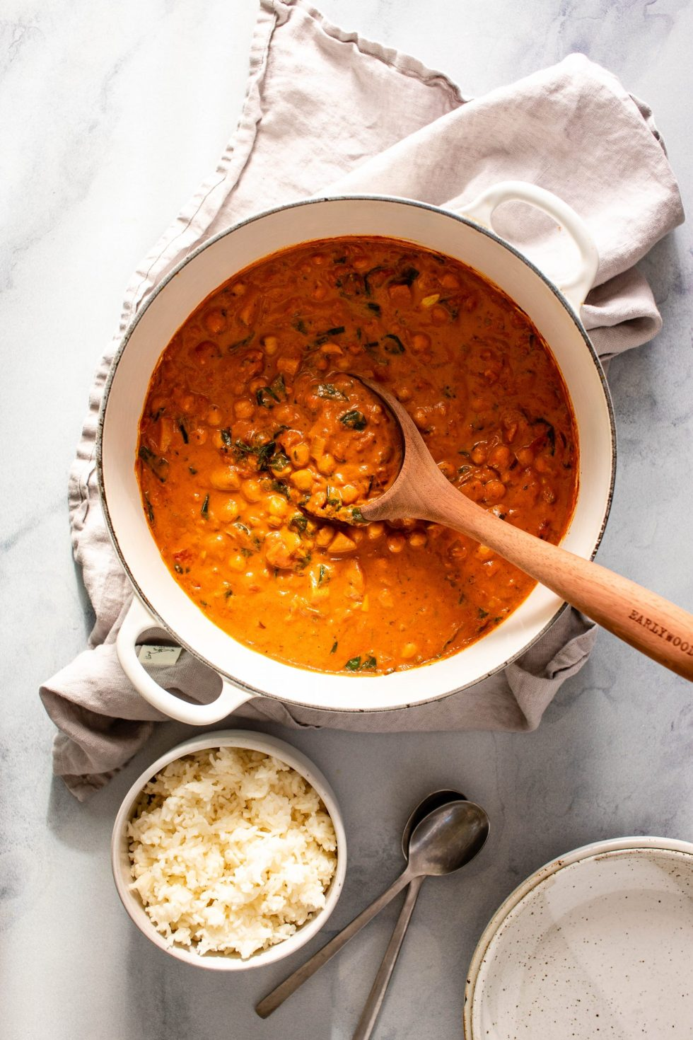 Tomato Chickpea Stew with Coconut + Garam Masala — warmandrosy.com