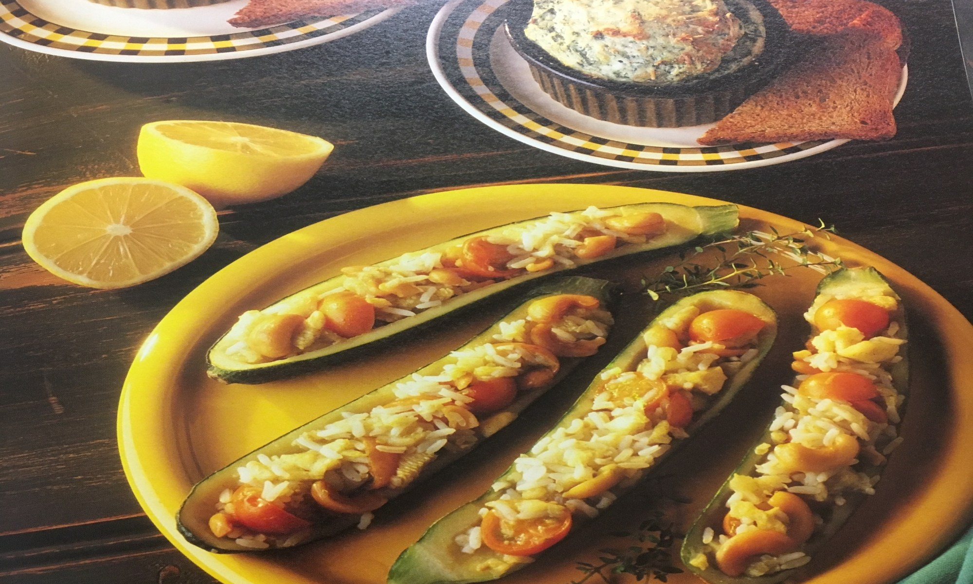 Lemony stuffed zucchini recipe