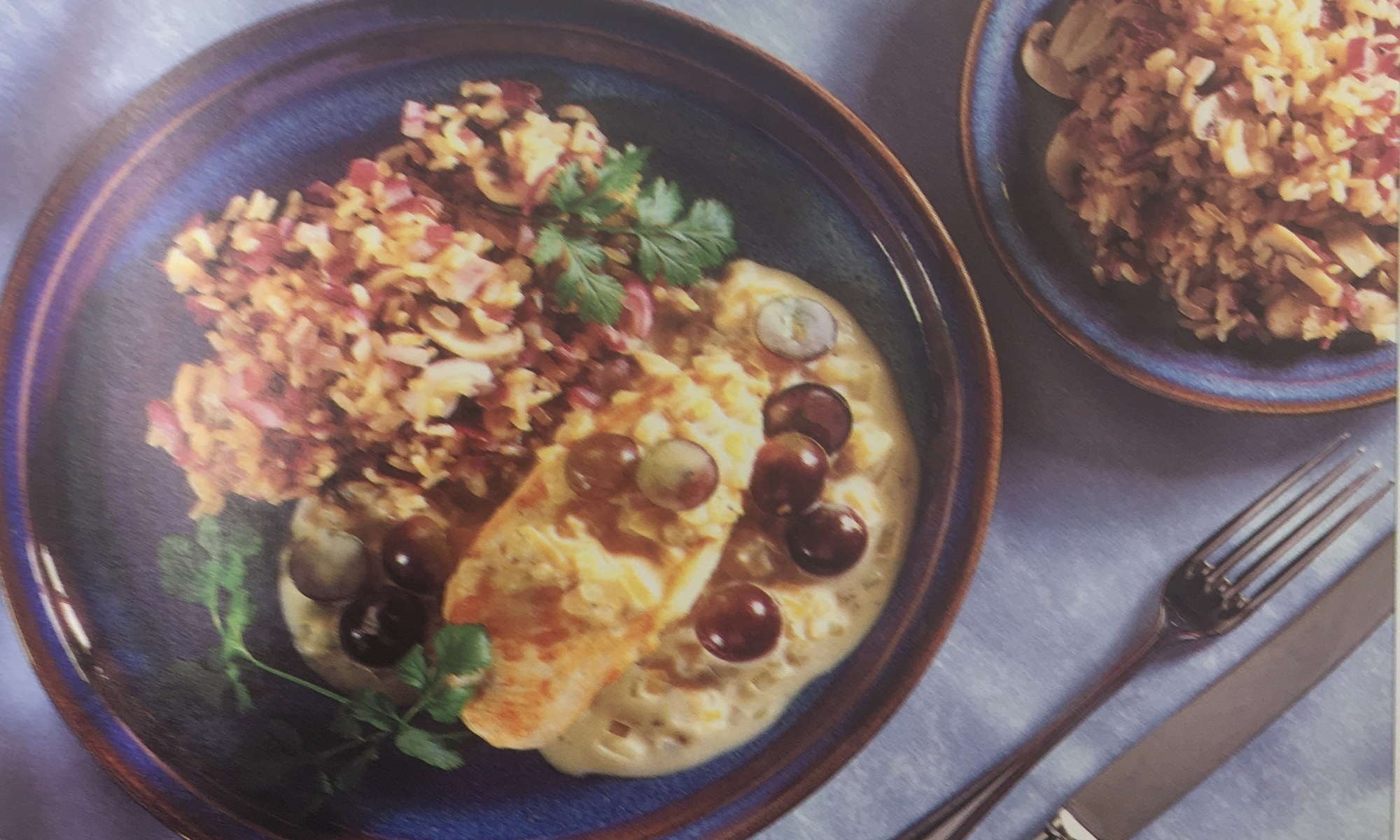 Creamy Chicken and Grapes