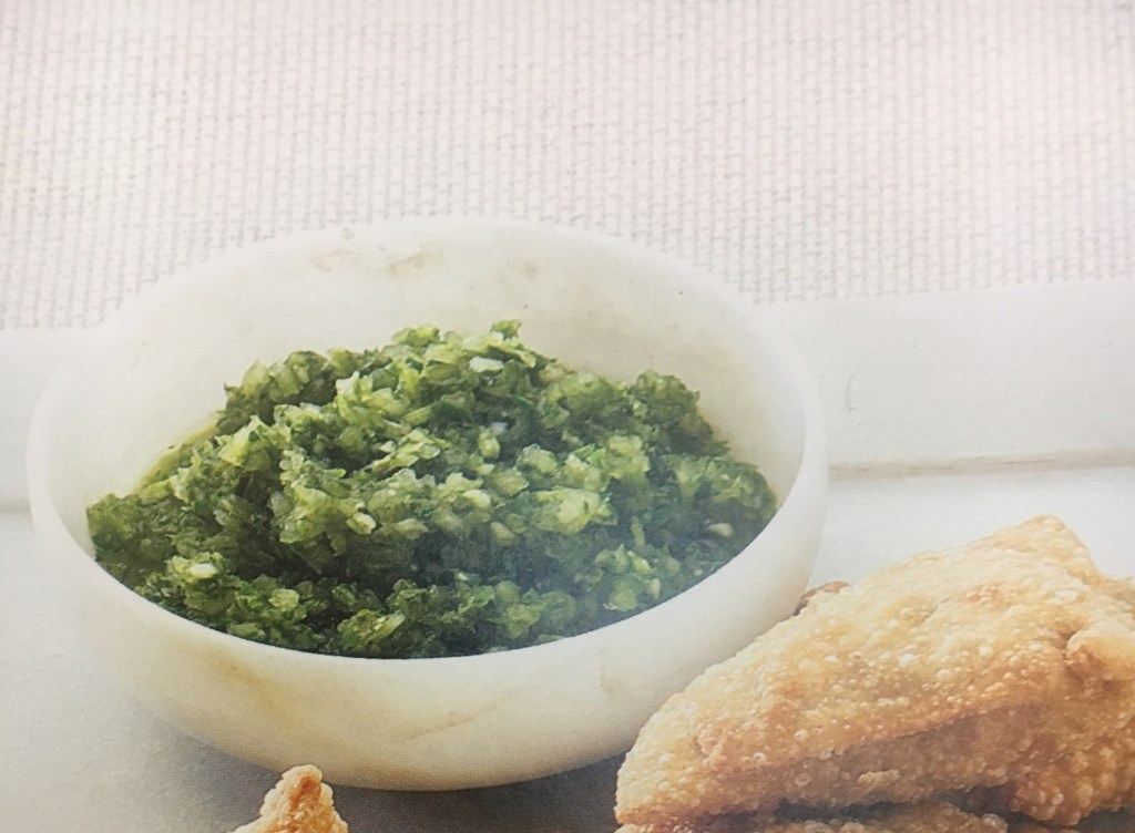 Warm and Tote Cilantro Chutney recipe