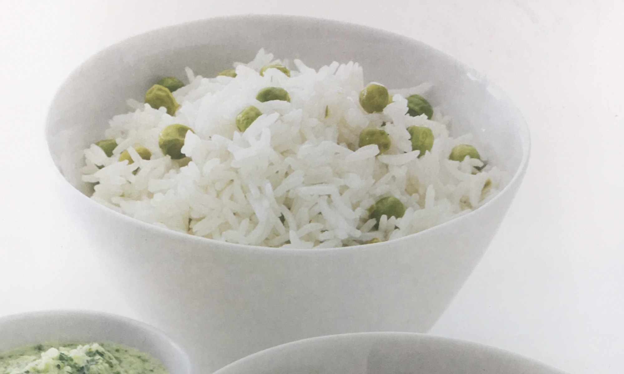 Warm and Tote Pulao Rice with Peas