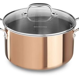 KitchenAid® Tri-Ply Copper 6-Quart Low Casserole with Lid