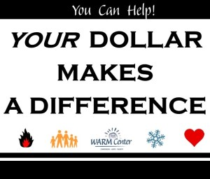 Dollar Makes a Difference @ The WARM Center