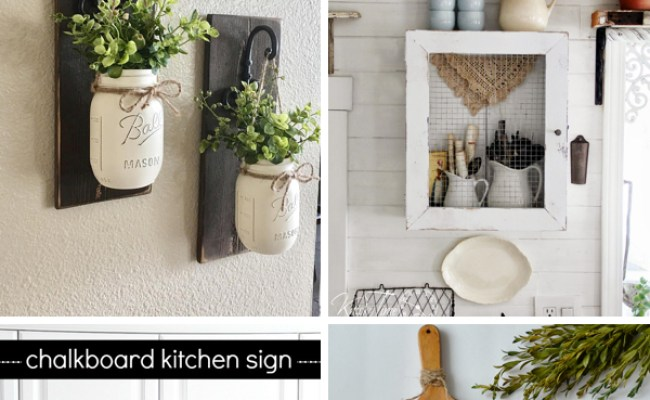 30 Enchanting Kitchen Wall Decor Ideas That Are Oozing
