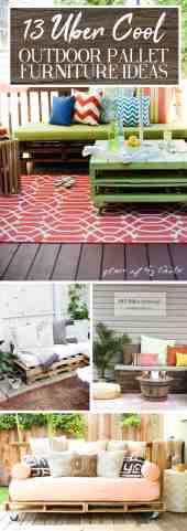 13 Uber Cool Outdoor Pallet Furniture Ideas