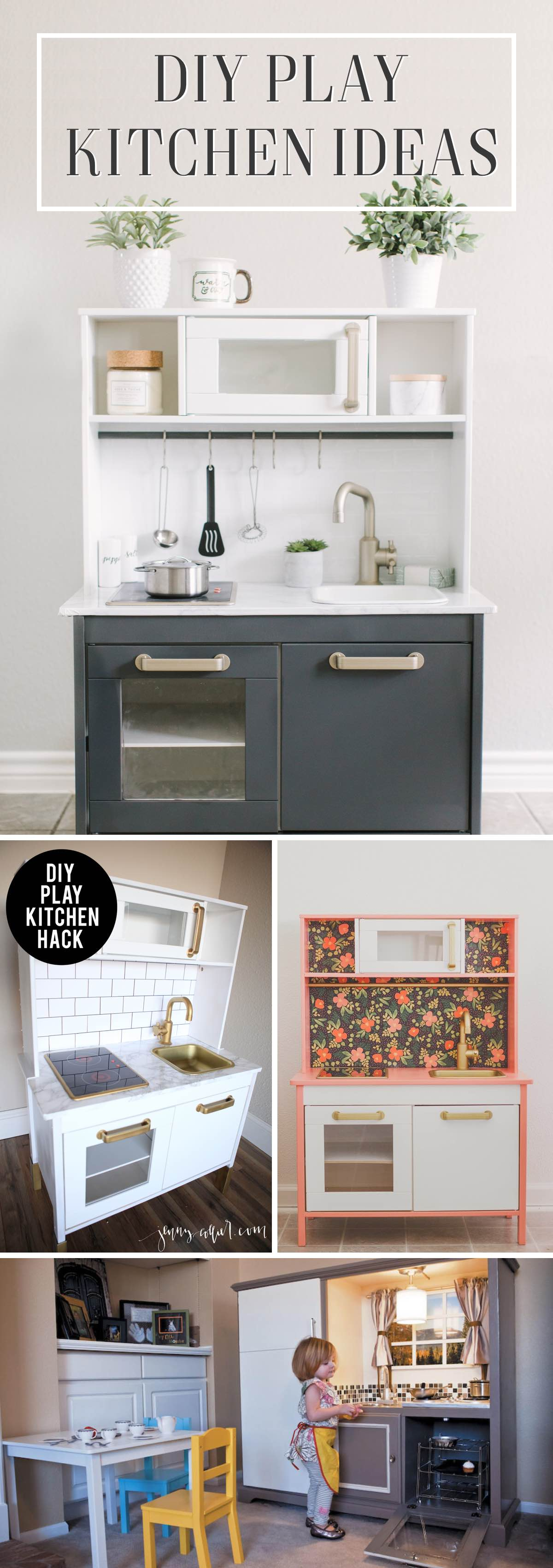 24 DIY Play Kitchen Ideas Making Miniature Pretties That Look Realistic!