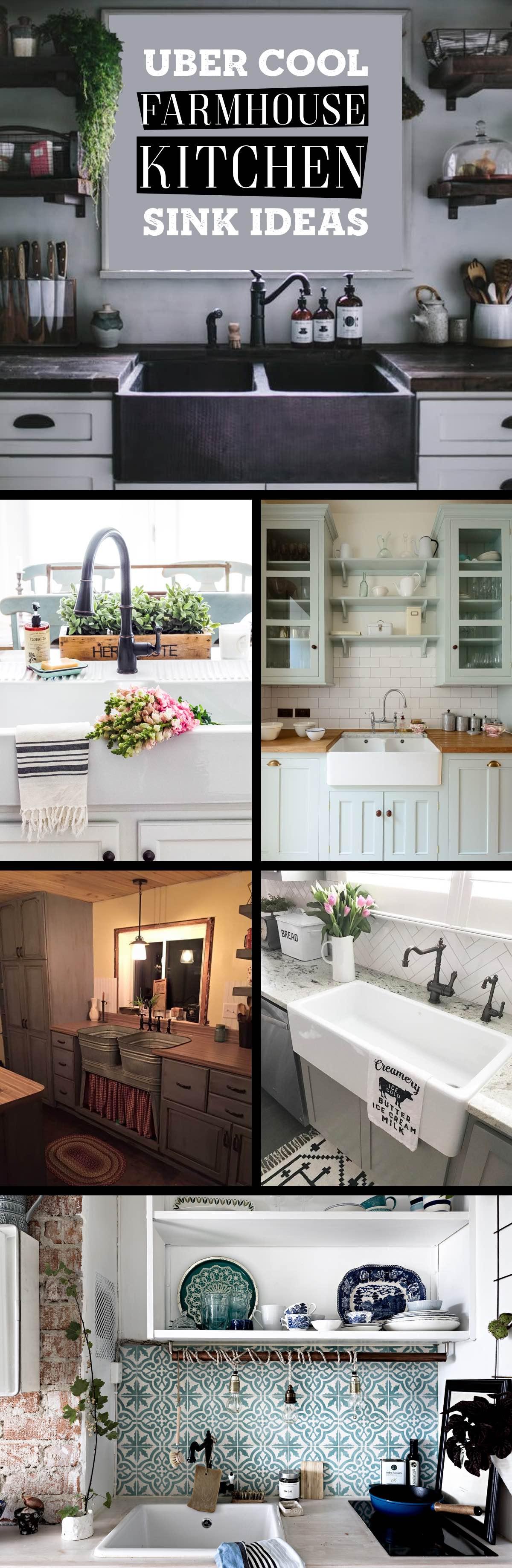 19 cool farmhouse kitchen sink ideas