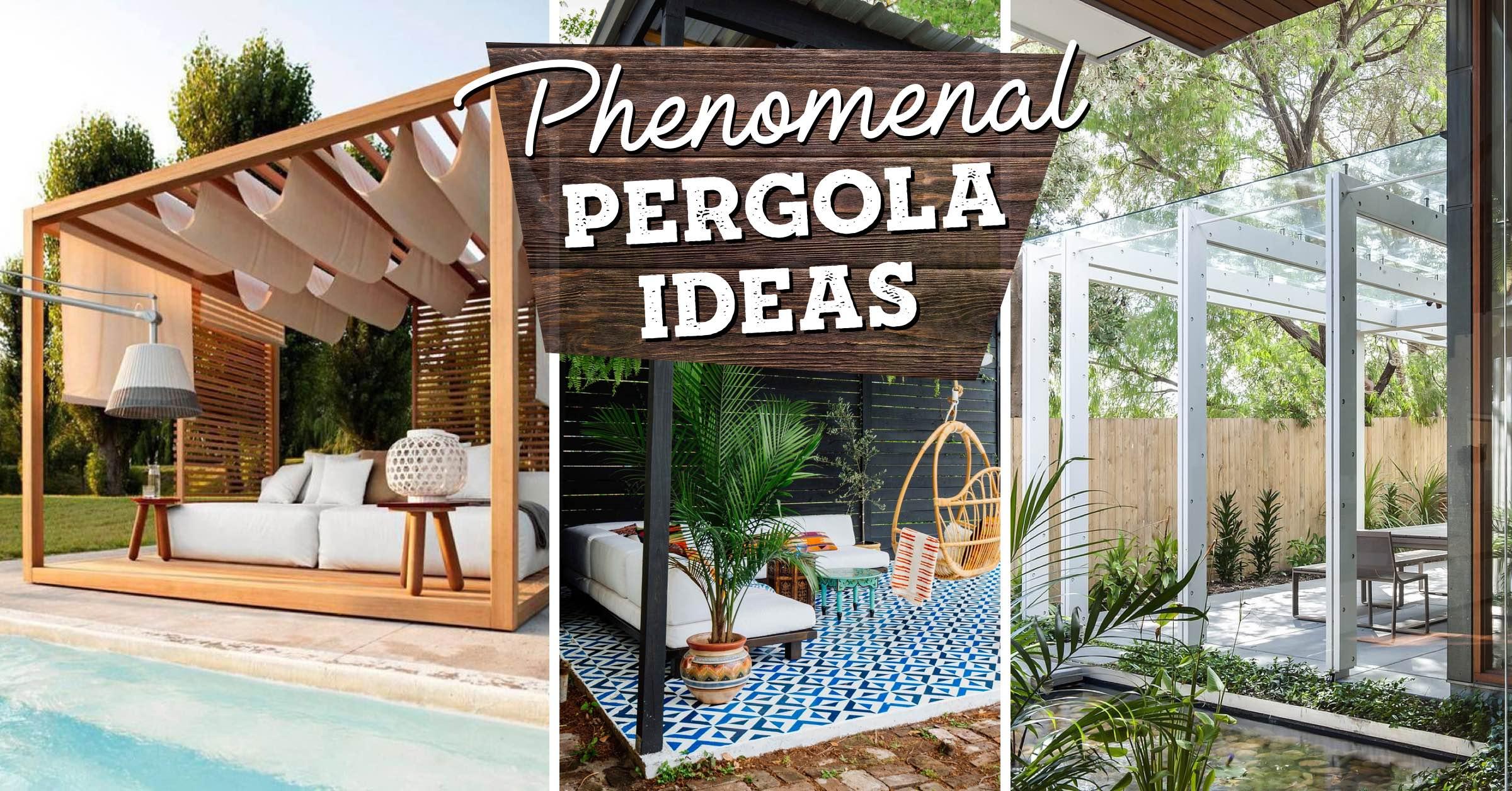 18 phenomenal pergola ideas that top a