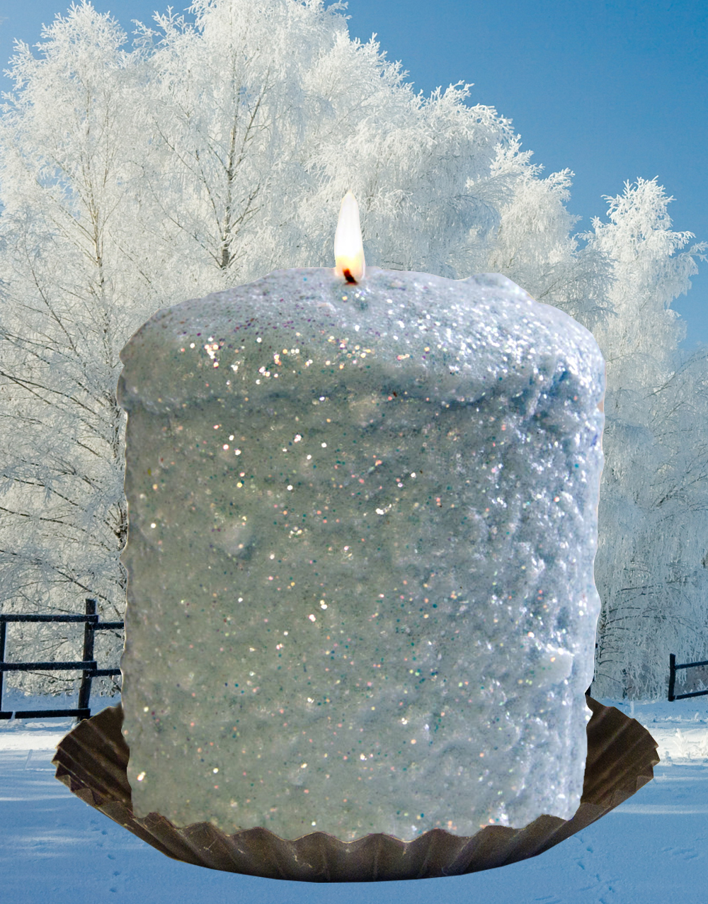 Frosty Morning Hearth Candle