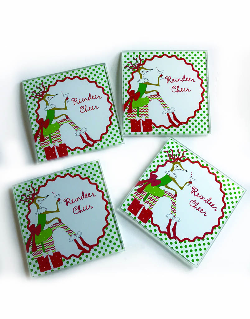 Reindeer Cheer Coasters