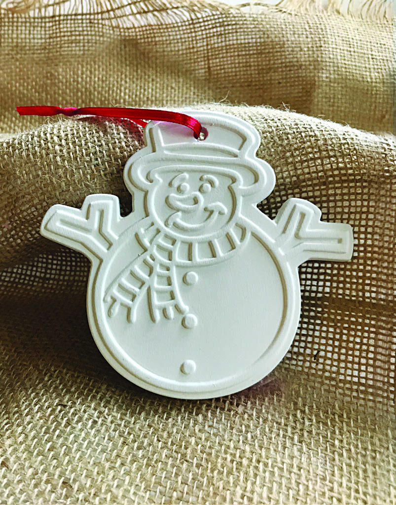 Time & Again Ceramic Ornament – Snowman