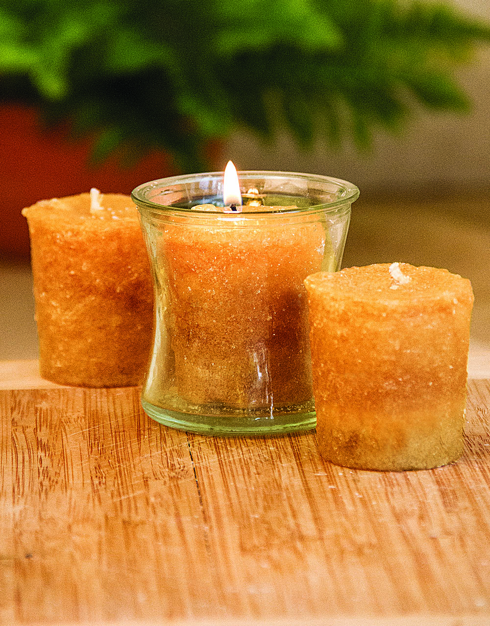 Friendship Bread 3 Pack Votive Candles