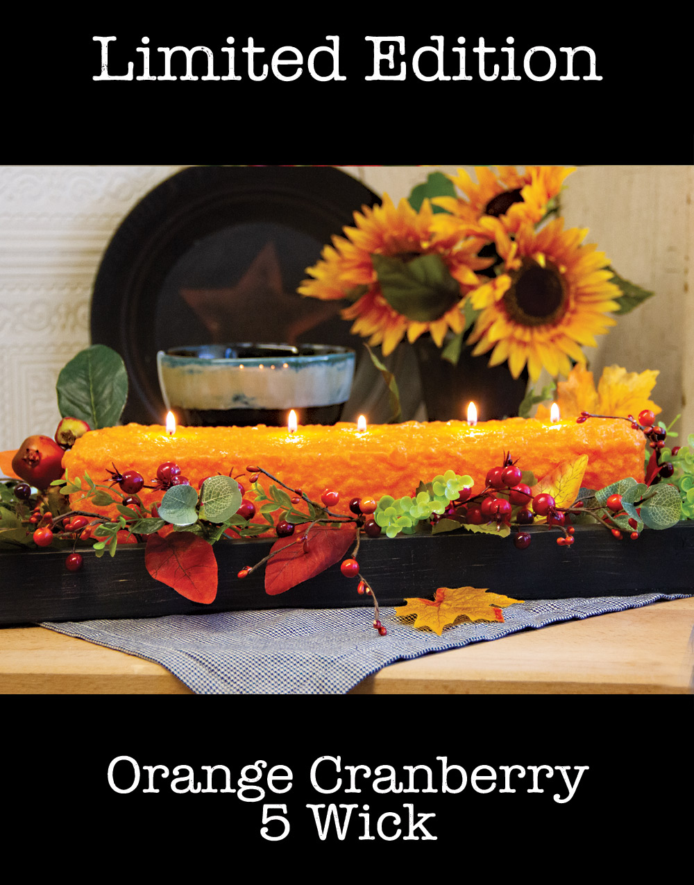 Holiday Edition 5 Wick Loaf Candle – Orange Cranberry
