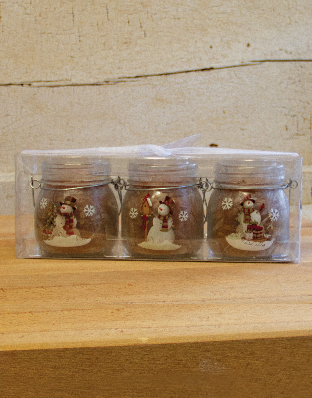 Frosted Snowman Set of 3 – Gingerbread Cookie