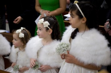 Bridesmaids, New Year's Eve Wedding, St Christopher's Church, Cheam. Photographed by Anna Hindocha/Warm Glow Photo.