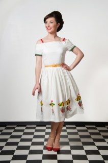 Model wearing clothes from Campbell Crafts Vinatge photographed by Anna Hindocha/Warm Glow Photo