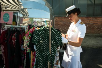 Browser at 1940s Relived event at Brooklands.