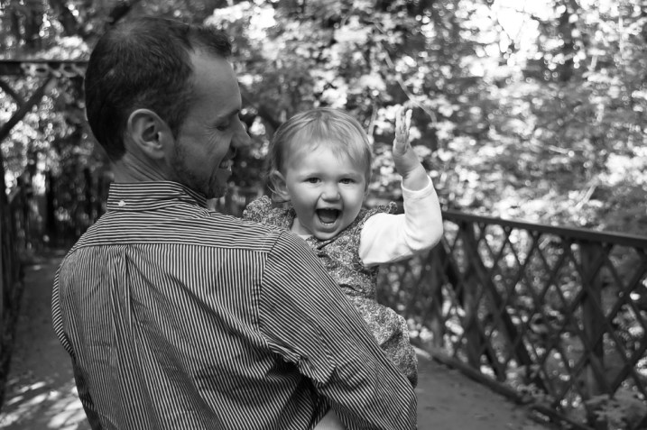 one year old girl with her father in Sydenham Woods, photographed by Anna Hindocha/Warm Glow Photo