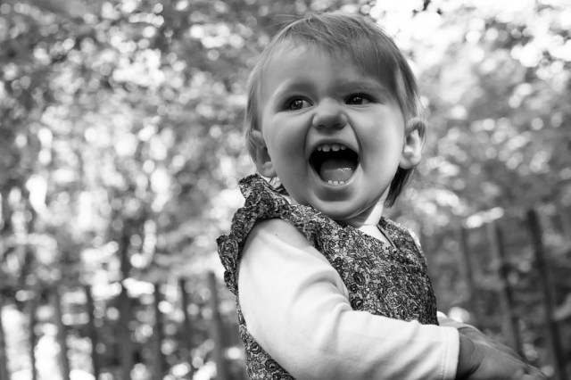 One year old girl in Sydenham Woods, photographed by Anna Hindocha/Warm Glow Photo
