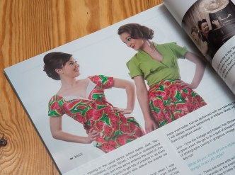 Photographs of My Favourite Things wearing clothing from Campbell Crafts Vintage photographed by Anna Hindocha/Warm Glow Photo in In Retrospect magazine.