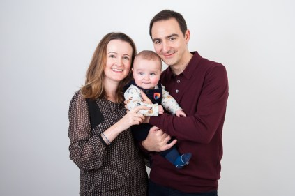 Family studio portrait by Anna Hindocha/Warm Glow Photo