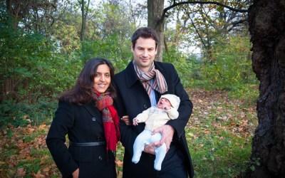 A newborn photo session on Clapham Common