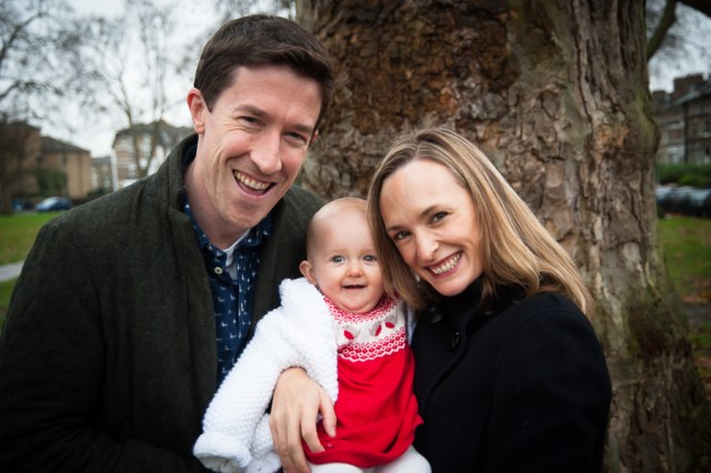 Family photo shoot on Goose Green, East Dulwich