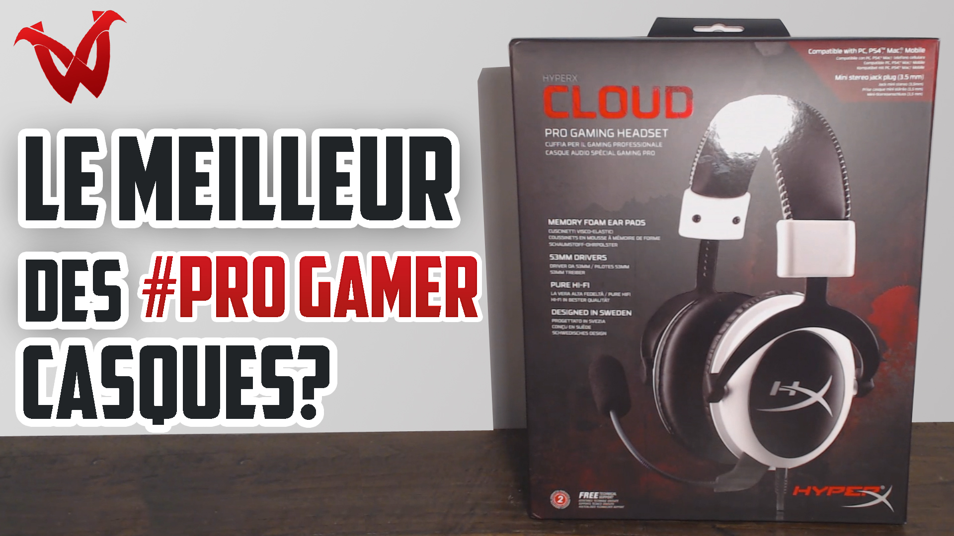 casque gamer kingston hyperx cloud