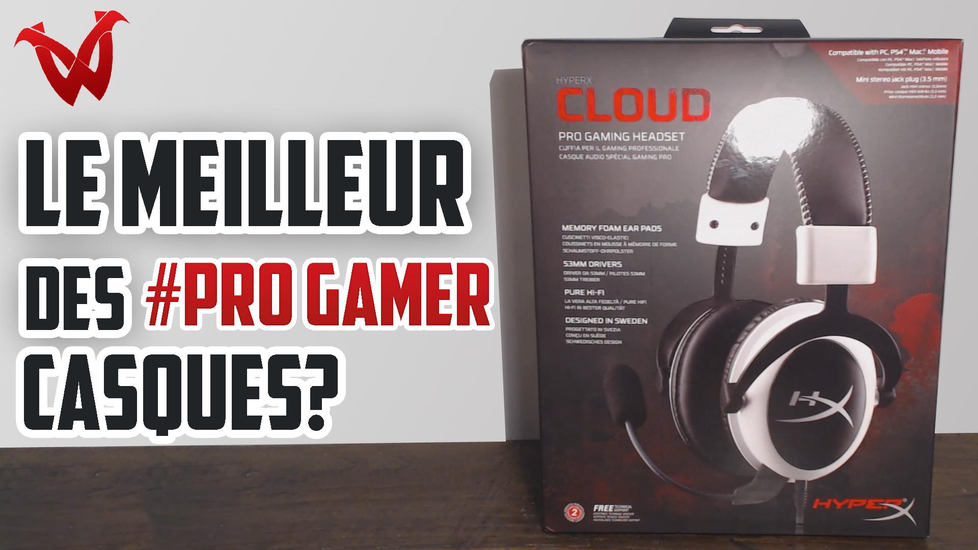 Présentation d'un casque gamer: l'HyperX Cloud !