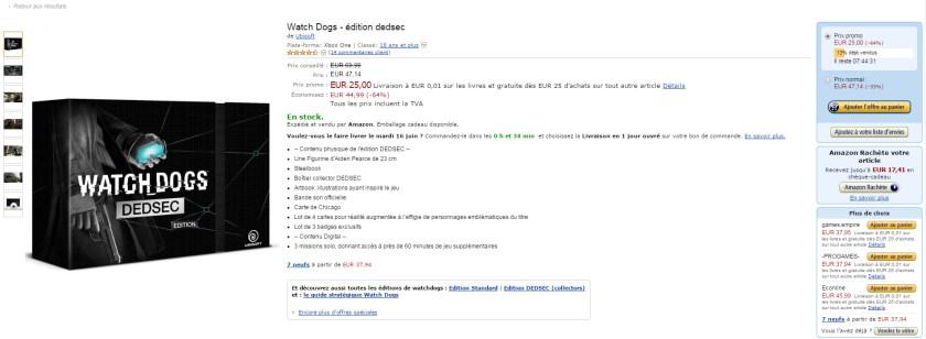 Cliquez Watch Dogs édition Dedsec