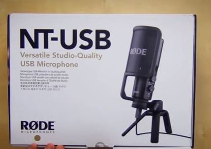 Boite avant Unboxing microphone rode nt-usb
