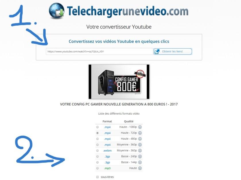 1 et 2 ème étape pour télécharger une vidéo musique sur youtube en 2017
