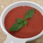 Roasted Tomato and Pear Soup with bail