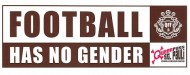 Football has no gender - Queerpass St.Pauli - nur Banner