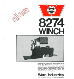 the history of the warn m8274 winch [ 800 x 1035 Pixel ]