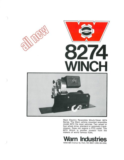small resolution of warn m8274 winch ad from 1974